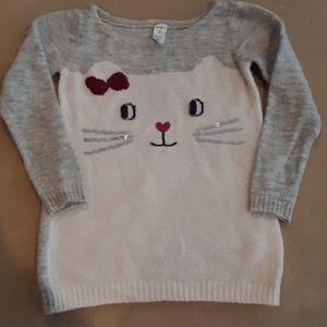 Girls  kitty sweater